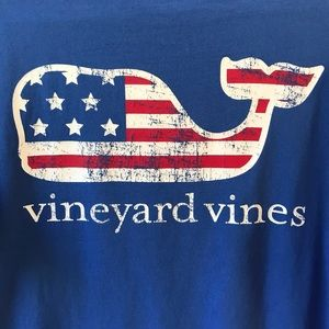 Vineyard Vines Flag whale Tee shirt